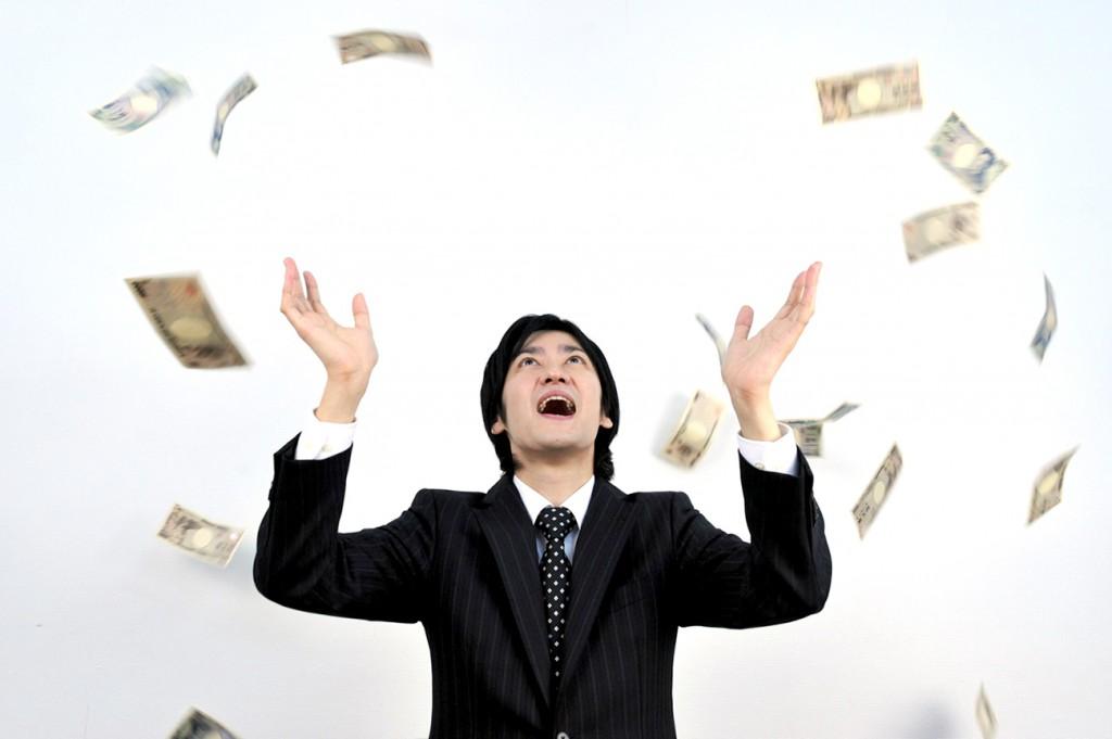 舞うお金とサラリーマン