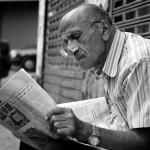 新聞と老人