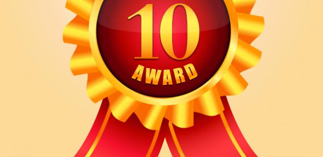 10位入賞のメダル
