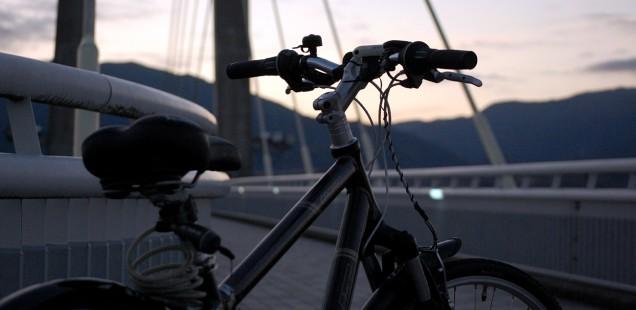 夕方の自転車