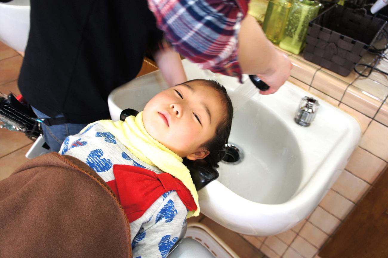 子供の洗髪