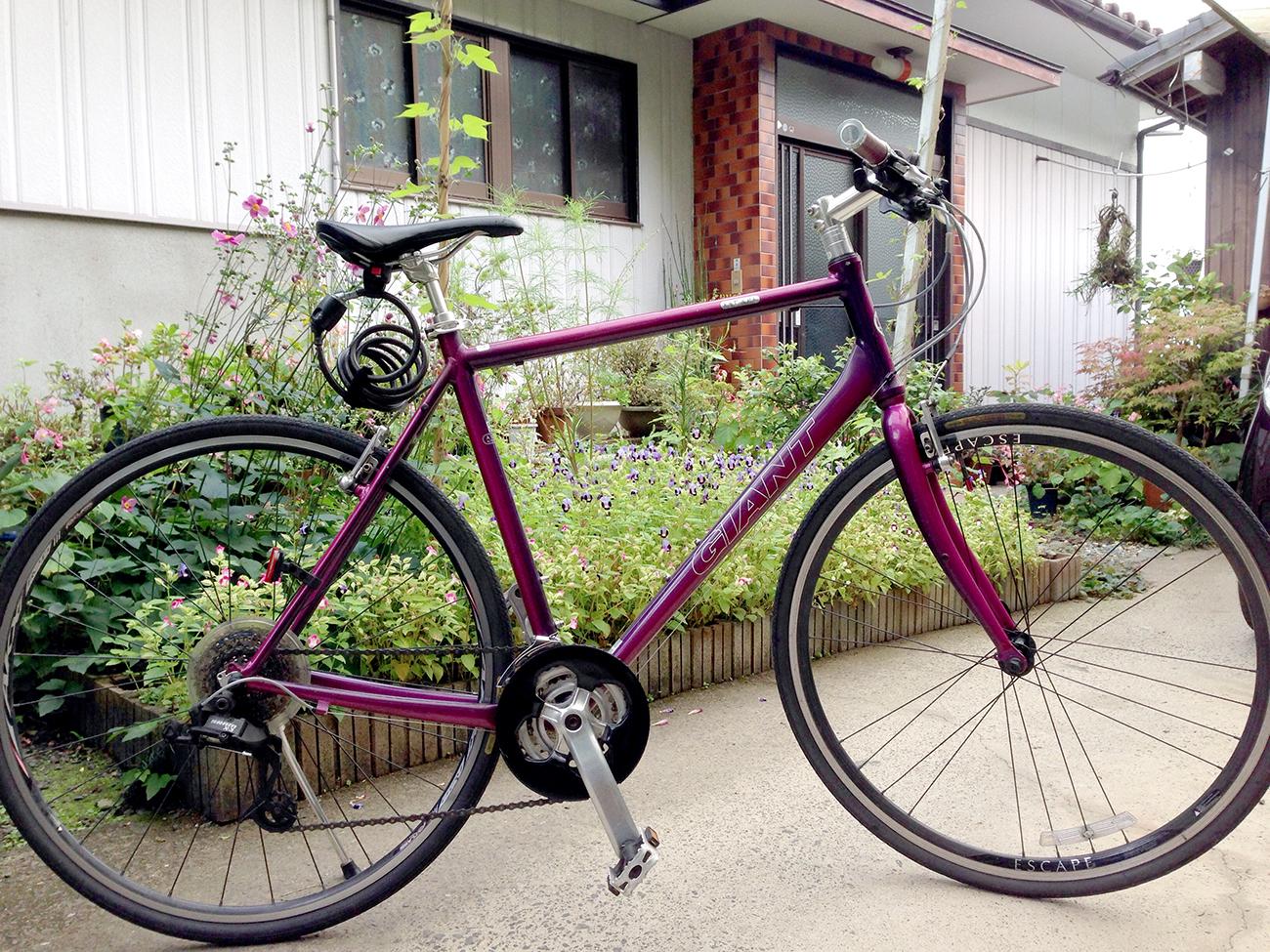 自宅で撮影したマイ自転車