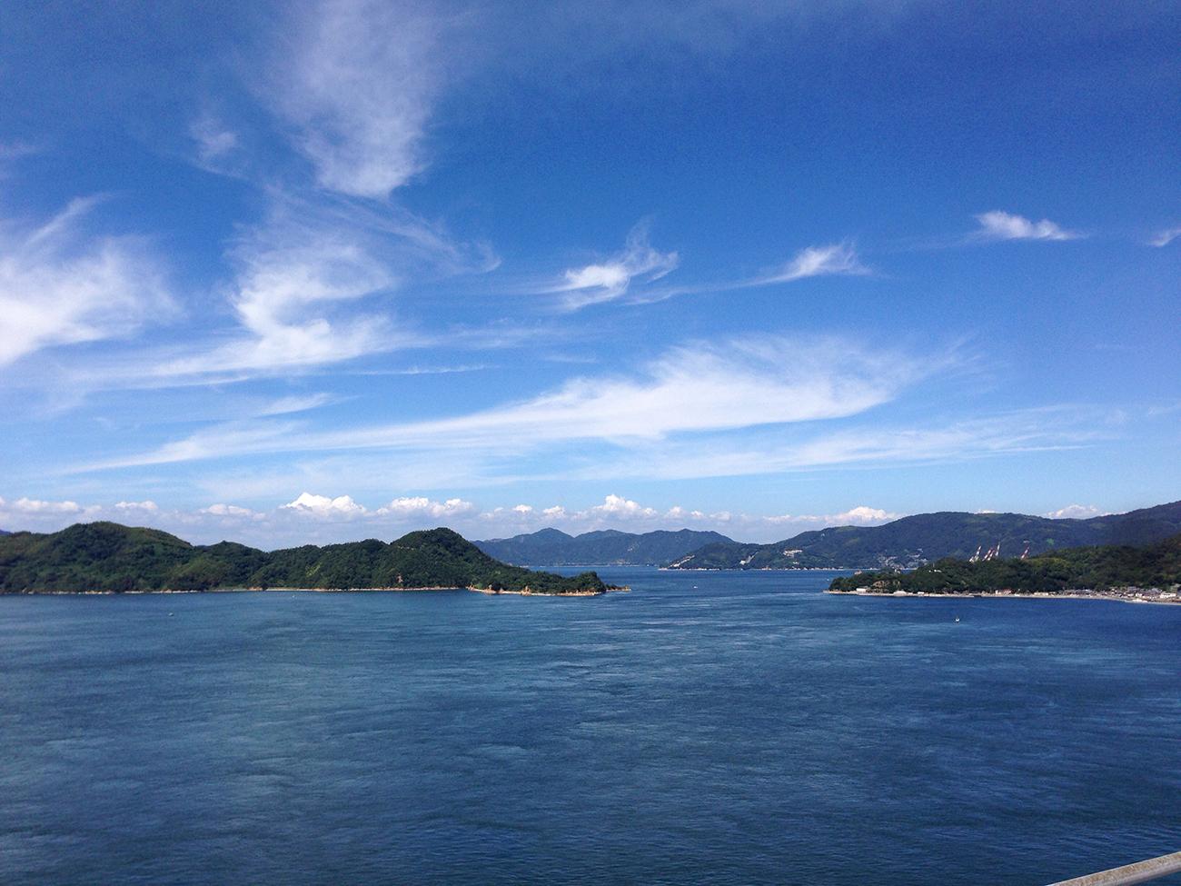 来島海峡大橋からの風景