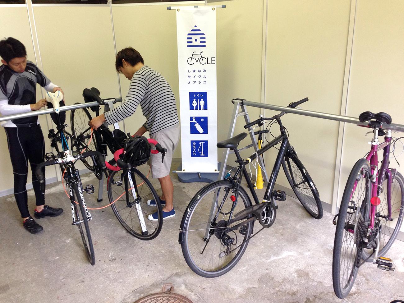 尾道第一ホテルの駐輪場