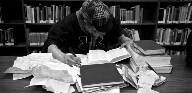 猛勉強する人