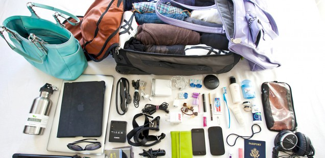 荷物のパッキング