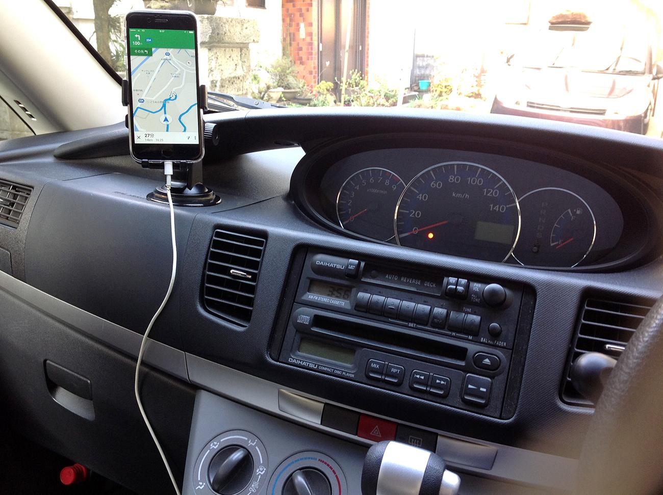 iPhone用車載ホルダー
